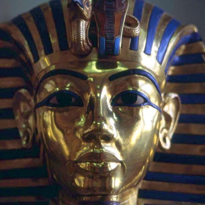 Masque or, lapi lazuli