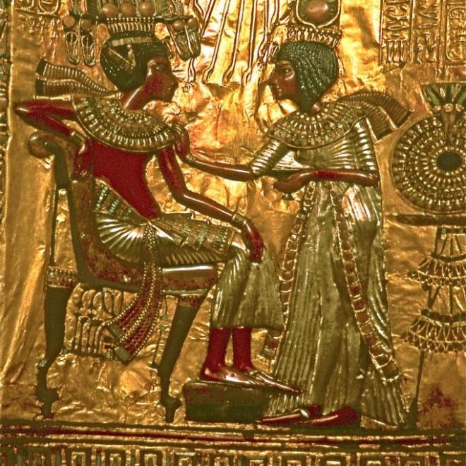 Les époux royaux-Toutankamon et Ankhésenamon