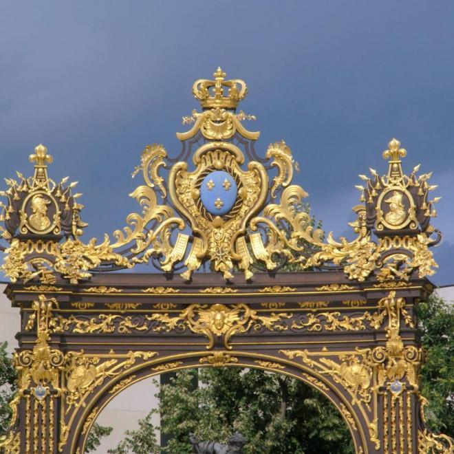 Grille dorée à l'or fin de Jean Lamour