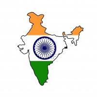 9320566 illustration du drapeau inde sur la carte du pays isole sur fond blanc